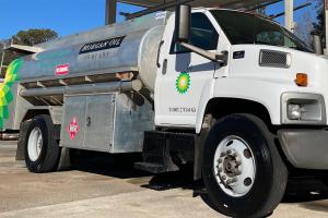 Morgan oil Company Fuel Delivery truck